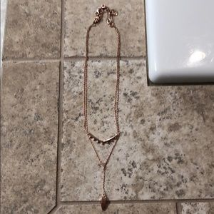 Rose gold Stella and Dot necklace